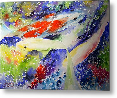 Koi Metal Print by Joanne Smoley