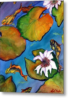 Metal Print featuring the painting Koi Pond II Sold by Lil Taylor