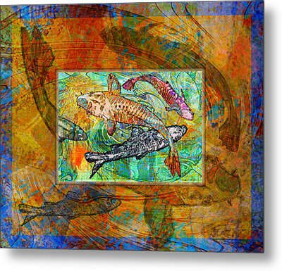 Koi Pond Metal Print by Mary Ogle