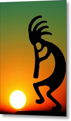 Kokopelli Metal Print by Mitch Cat