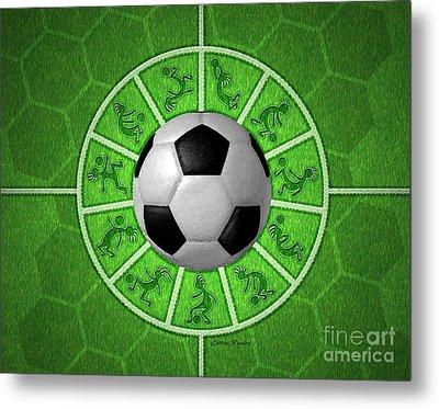 Kokopelli Soccer Metal Print by Chris Rhynas