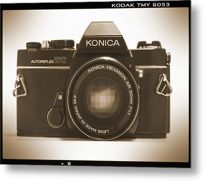 Konica Tc 35mm Camera Metal Print by Mike McGlothlen