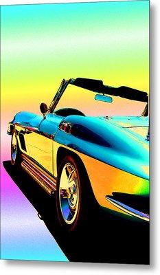 Kool Corvette Metal Print by Lynn Andrews