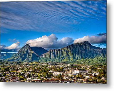 Metal Print featuring the photograph Koolau And Pali Lookout From Kanohe by Dan McManus