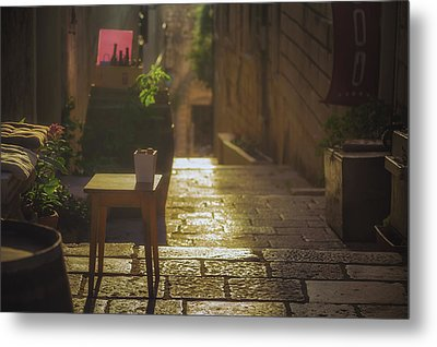 Korcula Alley No 2 Metal Print by Chris Fletcher