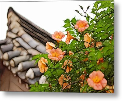 Korean Beauty Metal Print