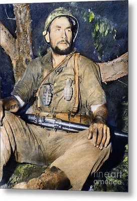 Korean War: G.i., 1950 Metal Print by Granger