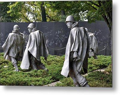 Korean War Memorial 3 Metal Print by Teresa Blanton