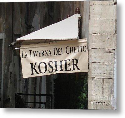 Kosher Metal Print by Rhonda Chase