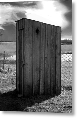 Koyl Cemetery Outhouse5 Metal Print