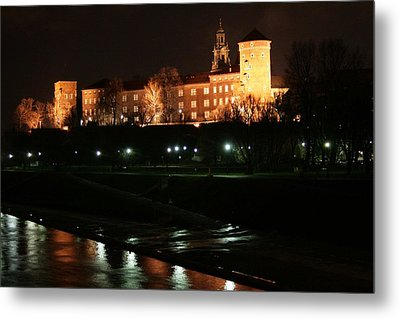 Krakow At Night Metal Print by Votus