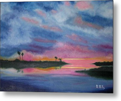 Kramer Island Sunset Metal Print