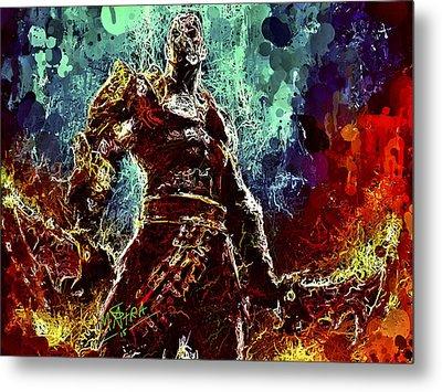 Kratos Metal Print