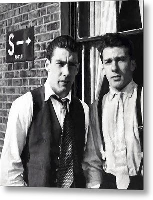 Kray Brothers London Prime Painterly Metal Print by Daniel Hagerman