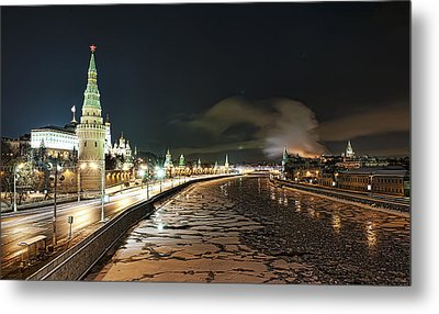 Metal Print featuring the photograph Kremlin View by Gouzel -