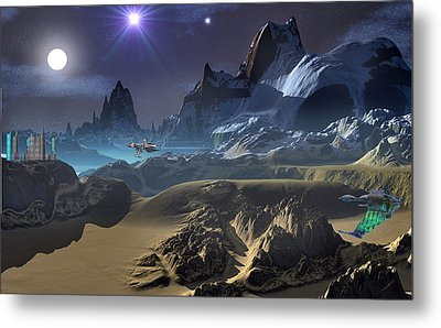 Krill City Stardock. Metal Print by David Jackson
