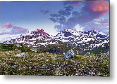 Crimson Peaks Metal Print by Dmytro Korol