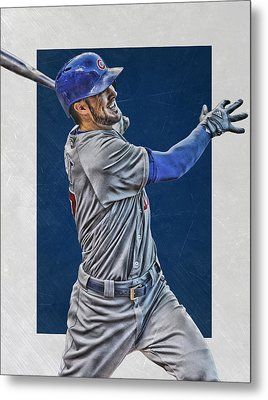 Kris Bryant Chicago Cubs Art 3 Metal Print