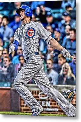 Kris Bryant Chicago Cubs Metal Print by Joe Hamilton