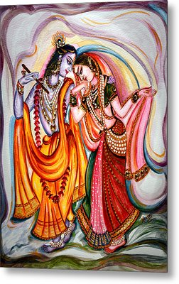 Krishna And Radha Metal Print