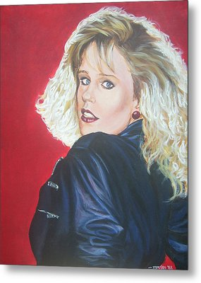 Metal Print featuring the painting Kristi Sommers by Bryan Bustard