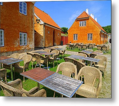 Metal Print featuring the photograph Kronborg Castle Cafe by Michael Canning