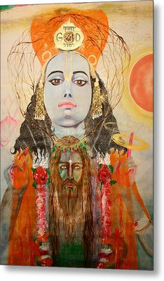 Krsna And Christ Metal Print