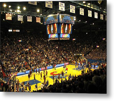 Ku Allen Fieldhouse Metal Print by Keith Stokes