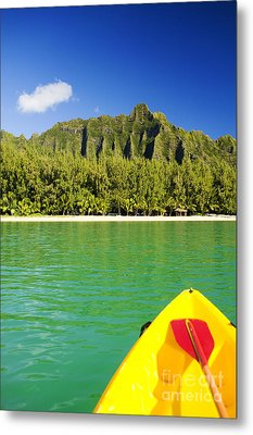 Kualoa Mountains From Kay Metal Print by Dana Edmunds - Printscapes