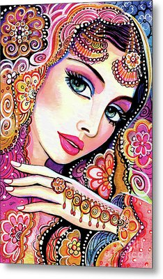 Metal Print featuring the painting Kumari by Eva Campbell