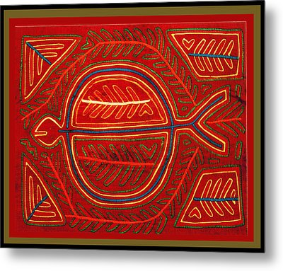 Kuna Indian Stingray Mola Metal Print