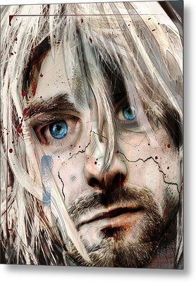 Kurt Cobain - Verse Chorus Hearse Metal Print by Sam Kirk