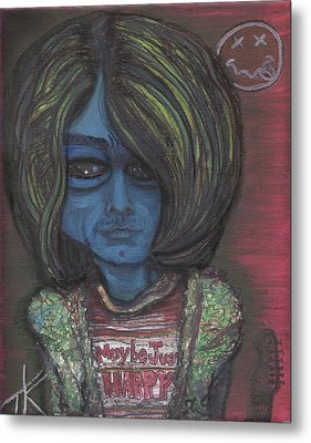 Kurt Cobalien Metal Print by Similar Alien