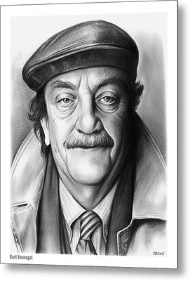 Kurt Vonnegut Metal Print by Greg Joens