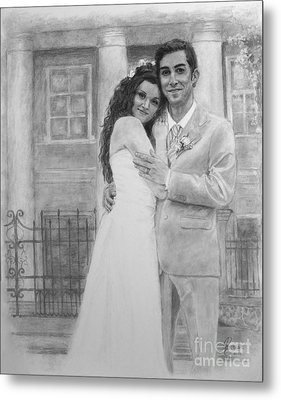 Kyle And Liliia Wedding Day Portrait Metal Print