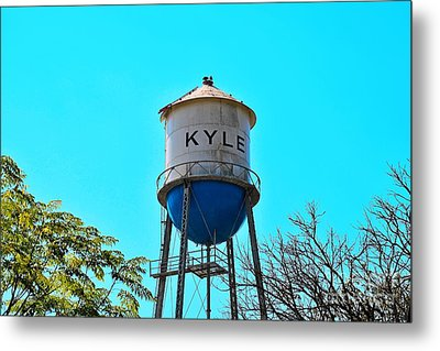 Kyle Texas Water Tower Metal Print