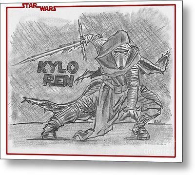 Kylo Ren The Force Awakens Metal Print by Chris DelVecchio