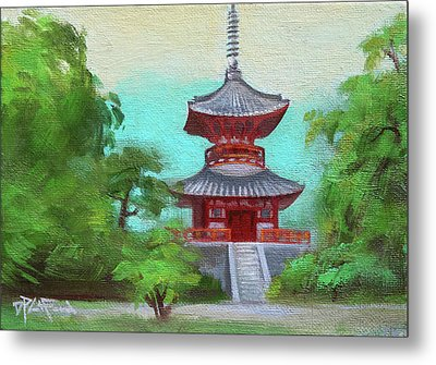 Metal Print featuring the painting Kyoto 1 by Dave Platford