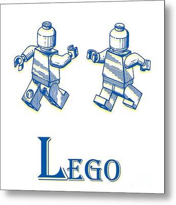 L Is For Lego Metal Print by Edward Fielding