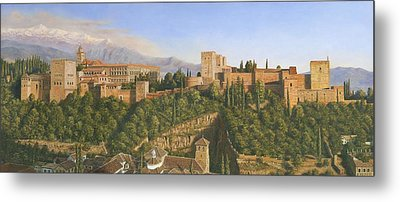 La Alhambra Granada Spain Metal Print by Richard Harpum