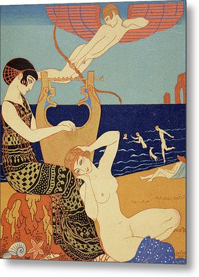 La Bague Symbolique Metal Print by Georges Barbier