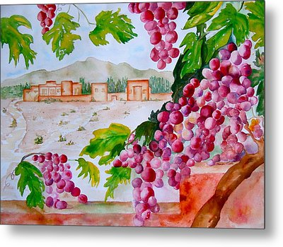 Metal Print featuring the painting La Casa Del Vino by Sharon Mick