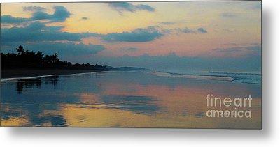 la Casita Playa Hermosa Puntarenas - Sunrise One - Painted Beach Costa Rica Panorama Metal Print