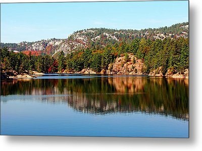 Metal Print featuring the photograph La Cloche Mountain Range by Debbie Oppermann
