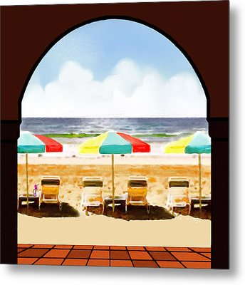 La Jolla Beach Club 1 Metal Print