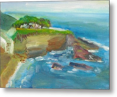 Metal Print featuring the painting La Jolla Cove 025 by Jeremy McKay