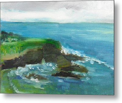 Metal Print featuring the painting La Jolla Cove 026 by Jeremy McKay