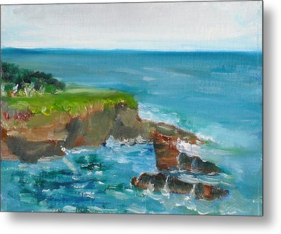 Metal Print featuring the painting La Jolla Cove 030 by Jeremy McKay