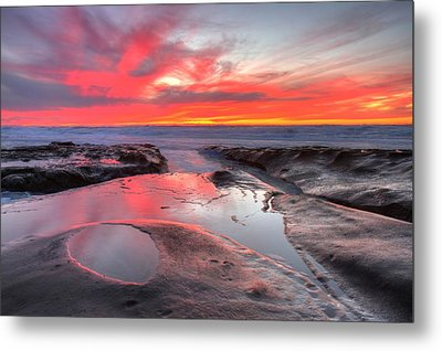 Metal Print featuring the photograph La Jolla Tidepools At Sunset by Nathan Rupert