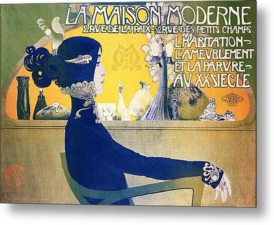 La Maison Moderne Metal Print by Manuel Orazi